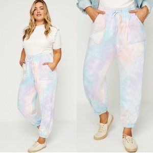 *JUST IN* Slay At Home Plus Size Tie Dye Joggers